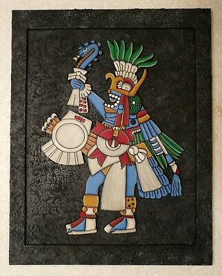 Huitzilopochtli Mexica Aztec God-of-War Mexico Hand Made Wall Frame Painting