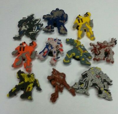 TRANSFORMERS 10 pc set SHOE CHARMS LOT FOR CROC SHOES JIBBITZ BRACELETS AUTOBOTS