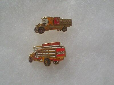 2 Coca Cola Old Time Delivery Truck Pins ~ Sonoma Pins