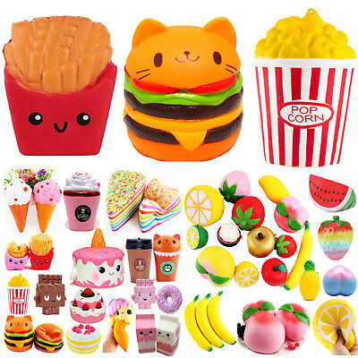 Jumbo Slow Rising Squishies Scented Squishy Squeeze Toy Stress Reliever Food Lot