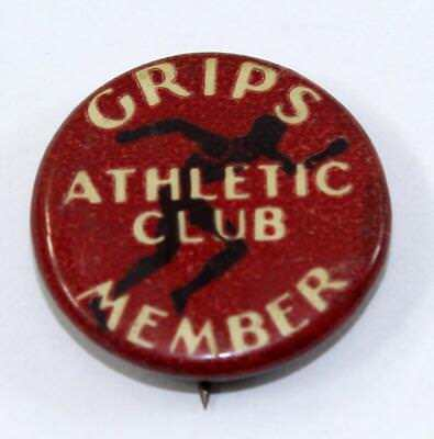 Vintage c.1935 Celluloid Grips Athletic Club Member Pin