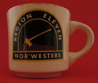 Region 11 Nor'Westers Boy Scout Coffee Mug Cup Vintage