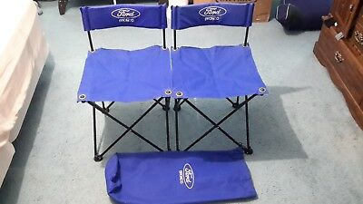 Ultra Rare 90s Collectable Ford Bronco Folding Chairs wLogo Never Used Excellent