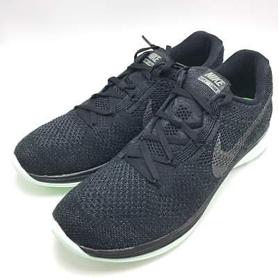 492d7e87a265 Nike Flyknit Lunar 3 LB Men s Running Shoes Black Green 826837-003 Men size