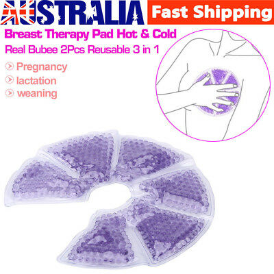 2Pcs Reusable 3 in 1 Breast Therapy Pad Cold Heat Compress Breast Nursing AU