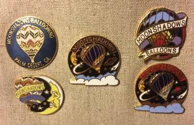 COLLECTION of 5 MOONSHADOWS BALLOONS PALM DESERT CA. Pins 3  LIMITED EDITION