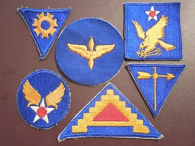 WWII US Army Air Corp Patches Aviation Group AAC Lot Military Insignia Rare CP99