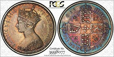 1853 Great Britain Gothic Florin PCGS XF45