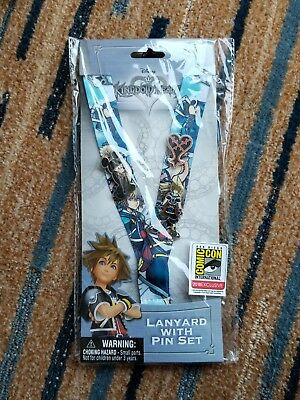 SDCC 2018 Monogram Exclusive Kingdom Hearts Mickey Mouse Lanyard Pin Set LE 400