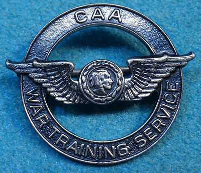 WWII CAA War Training Servicde Pin Sterling