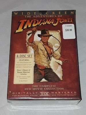 The Adventures of Indiana Jones: The Complete DVD Movie Collection New Sealed