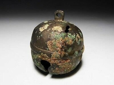Chinese Bell Buddha ANTIQUE Buddhist ancient ART Buddhism Old Copper CHINA 111g
