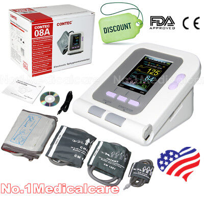 Infant Child Adult NIBP Blood Pressure Monitor Digital Spo2 Arm Cuffs FDA CE