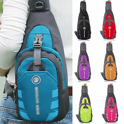 Men Small Chest Bag Pack Sport Shoulder Sling Backpack Cross Body Hiking Outdoor