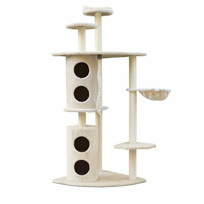 170CM Cat Tree Scratching Post Pole Condo Toy House Furniture Multi level Beige