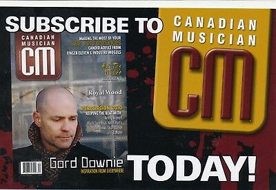 "Gord Downie Original Magazine Advertisement Handbill 4"" X 6"""