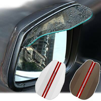 Pair Car Rain Visor Guard Weather Shield Shade Cover Board Door Side Rear View