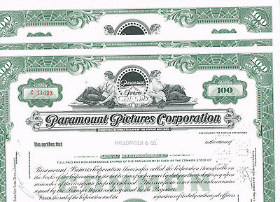Set 3 Paramount Pictures Corp., 1960s, green, VF+