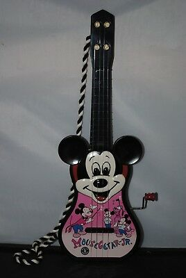 Vintage Mickey Mouse Guitar Mousegetar JR Mattel Toymakers Working Musical