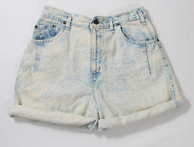 Vintage 80s super acid washed denim shorts sz M Sunset Blues high waisted