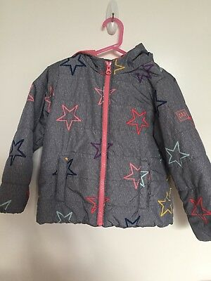 Gap Baby. Girl Size 4 Years Star Design Jacket with Hood