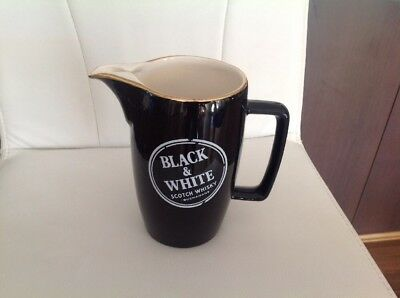 Black And White Whiskey Water Jug