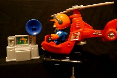 Fisher Price Little People Helicopter with pilot and radar