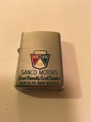 Vintage Slim Zippo Lighter - Ford Motor Co - New Mexico
