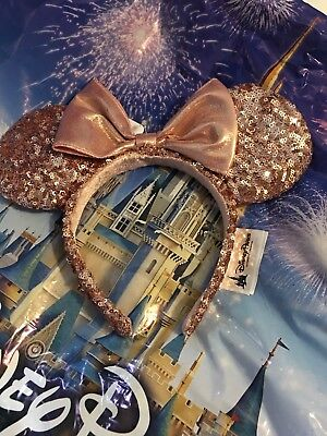 Disney Parks Exclusive ROSE GOLD Minnie Mouse Headband Ears