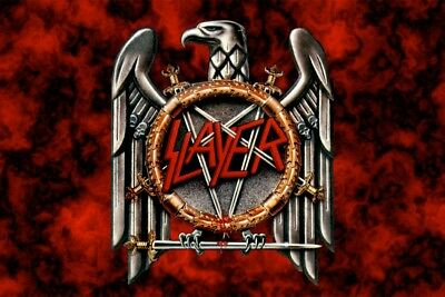 Slayer heavy metal Rock Band flag banner wall hanging large size 90 cm x 150 cm