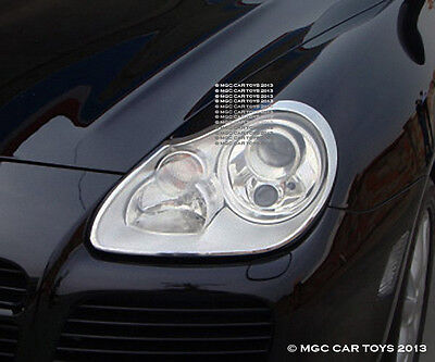 Porsche Cayenne 2003-2006 Headlight Chrome Trim Upgrd (One Pair)