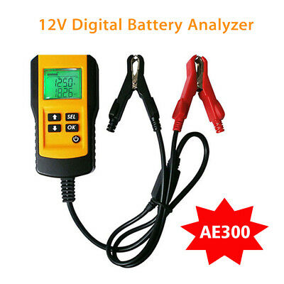 AE300 12V Car Digital Battery Test Analyzer Load Diagnostic Tool Professional