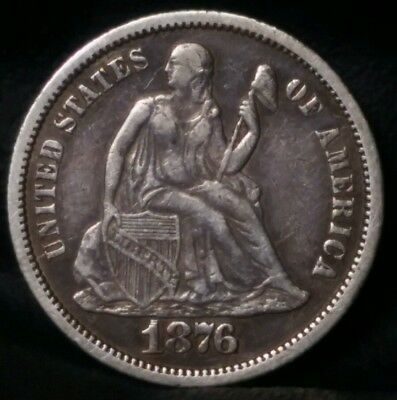 1876-CC 10C Liberty Seated Dime RARE FORTIN 110 RPD & DDR TOP 100 SET
