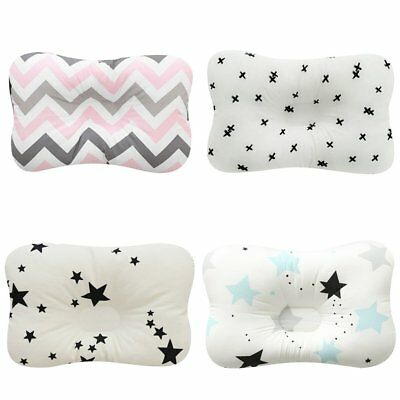 Baby Infant Newborn Prevent Flat Head Neck Syndrome Support Square Pillow TU