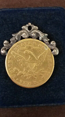 1906S $10 Liberty Head Eagle SOLID Gold Coin - with added custom necklace attach