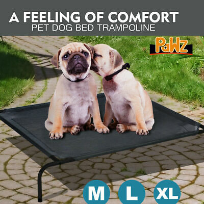 Pawz Bed Trampoline Pet Dog Puppy Cat Heavy Duty Frame Hammock Mesh M L XL AU
