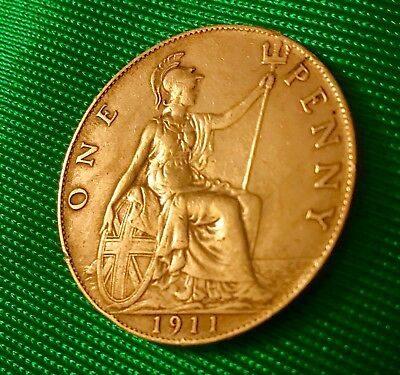 1911 AU Great Britain Penny, Key Date!!! Lots Of Details!!