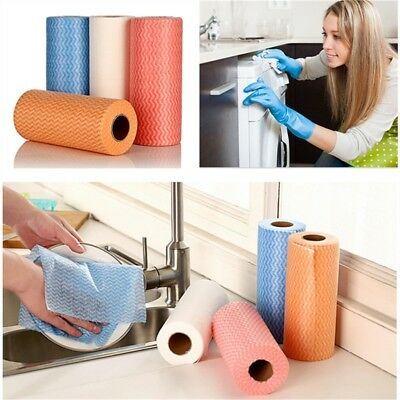 New Non-woven Disposable Towel  Dishcloth Rag Oil Wiping  Kitchen Cleaning Cloth
