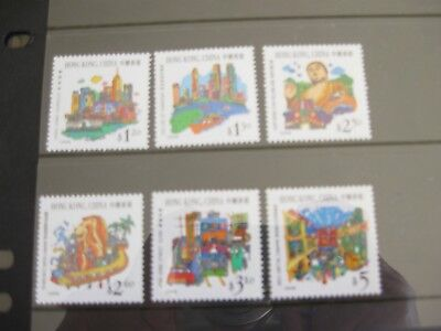 Set of 6 x mint Hong Kong,China stamps (1999) Joint issue with Singapore