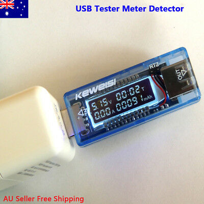 USB Volt Current Voltage Doctor Charger Capacity Tester Meter Power Bank AUPOST