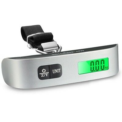 Portable Digital Luggage Scale LCD Display Travel Hook Hanging Weight 110lb