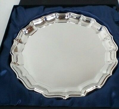 """+  Vintage Silver plated Plate Tray  Ornate Gift Antique 10"""" replica 14:16"""