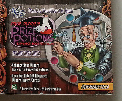 WIZARD IN TRAINING TCG Prof. Ploogs Prize Potions Booster Box mit 24 packs - NEU