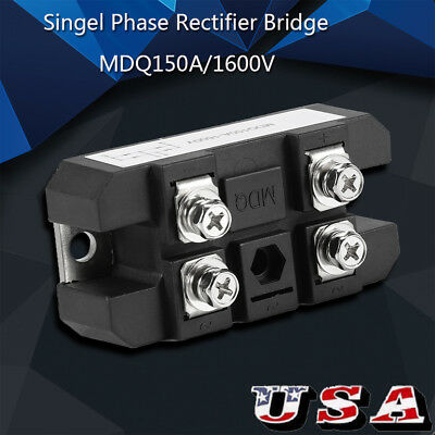 Durable 150A Single Phase Diode Bridge Rectifier MDQ150A 1600V High Power  US