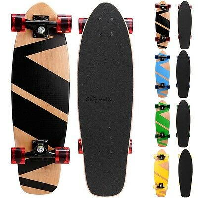 27/'/' Retro Complete Cruiser Skateboard Frosting Surface Wooden//Plastic SYL6 USA
