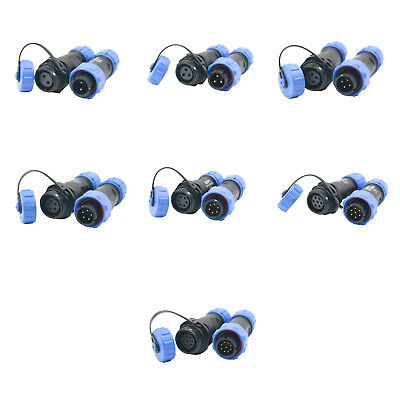 2/3/4/5/6/7/9 Pin Waterproof Plastic Aviation Cable Docking Connector IP68 SP13
