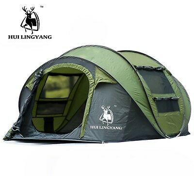 Large throw tent outdoor 4 persons automatic speed open throwing pop up windpro