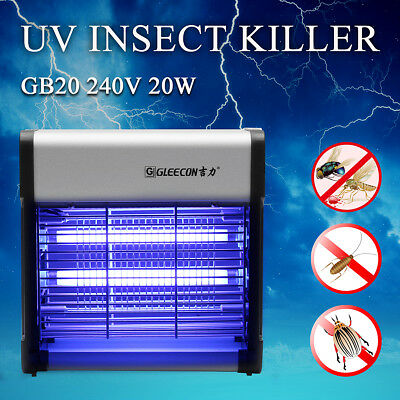 30W 240V Aluminium Electric Insect Fly Bug LED Mosquito Zapper Killer UV Lamp