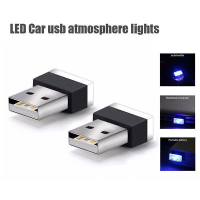 Car Auto Flexible Mini USB Colorful LED Light Lamp Atmosphere Lamp Bright