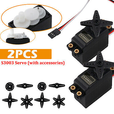 2PCS Car Plane Helicopter RC Boat Gear S3003 Standard High Torque Servo